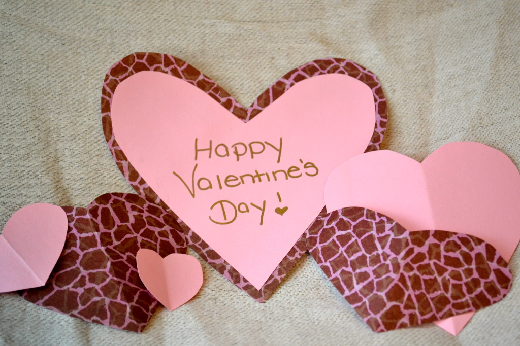 Cave girl crafts homemade valentines How to make a valentine card for your girlfriend