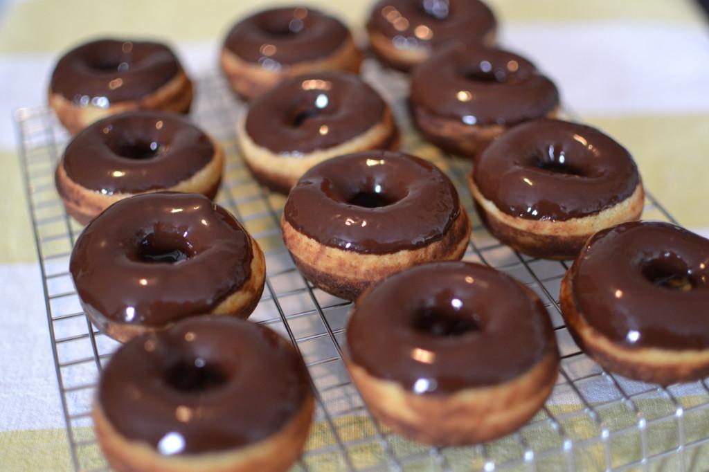 Paleo Dark Chocolate Glazed Donuts