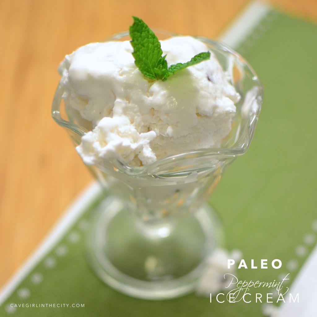 Paleo Peppermint Ice Cream
